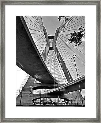 Ponte Estaiada Octavio Frias De Oliveira - Sao Paulo Framed Print