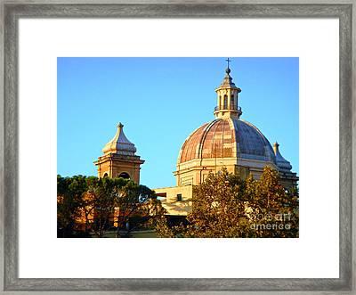 Ponte Milvio Roma Framed Print