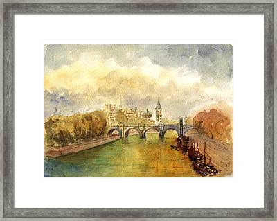 Ponte Neuf Paris Framed Print by Juan  Bosco