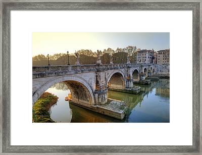 Ponte Sant'angelo  Framed Print