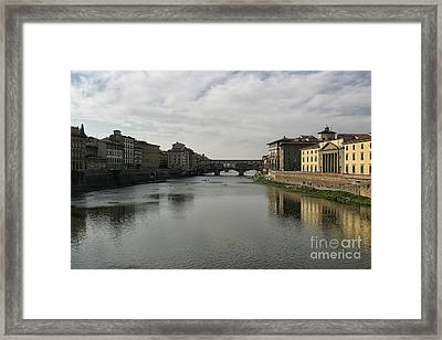Framed Print featuring the photograph Ponte Vecchio by Belinda Greb