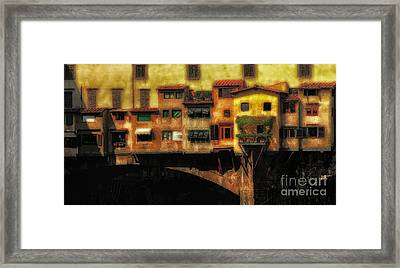 Ponte Vecchio Firenze Framed Print by Mike Nellums