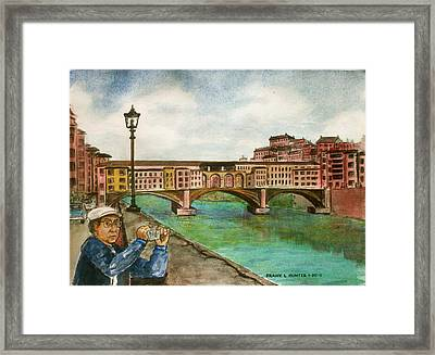 Ponte Vecchio Florence Italy Framed Print by Frank Hunter