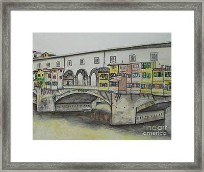 Ponte Vecchio Florence Italy Framed Print by Malinda  Prudhomme