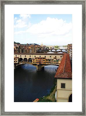Ponte Vecchio Florence Tuscany Framed Print by Mathew Lodge