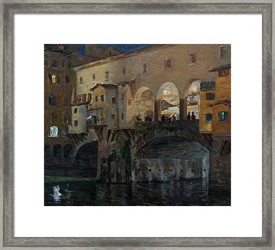 Ponte Vecchio Framed Print by Korobkin Anatoly