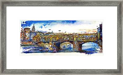 Ponte Vecchio Framed Print by Randy Sprout