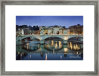 Ponte Vittorio Emanuele II - Rome Framed Print by Rod McLean