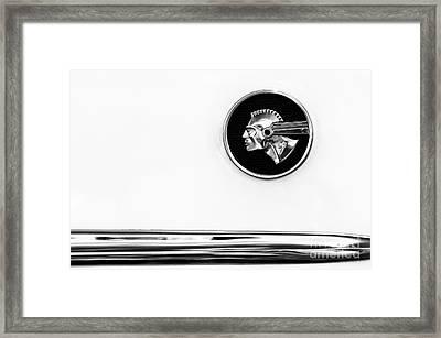 Pontiac Eight Chieftain Monochrome Framed Print