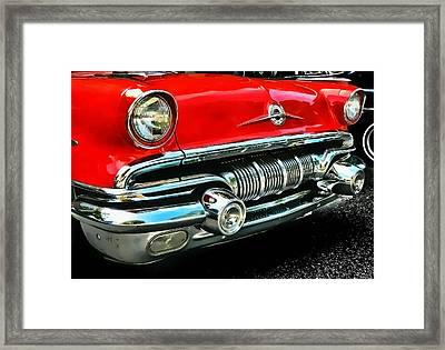 Framed Print featuring the photograph Pontiac Grill by Victor Montgomery