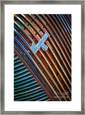 Pontiac Grille Framed Print