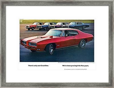 Pontiac Gto - 1964 1965 1966 1967 1968 Framed Print