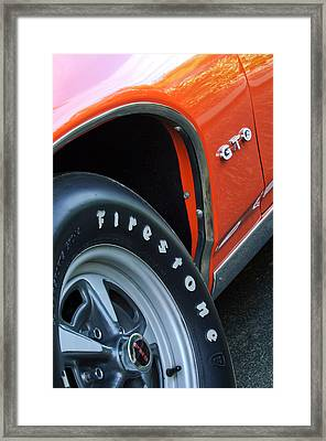 1969 Pontiac Gto Judge Coupe Tire Emblem Framed Print by Jill Reger