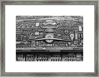 Pontiac Hood Framed Print