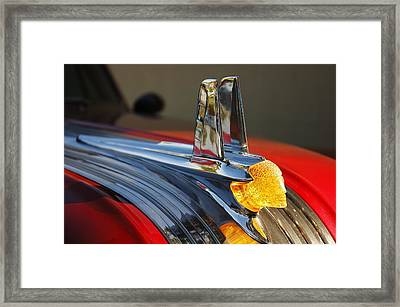 Pontiac Hood Ornament Framed Print by Jim Hughes
