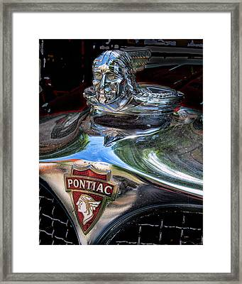 Pontiac Hood Ornament Framed Print by Victor Montgomery