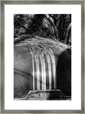 Pontiac Rear End In Black And White Framed Print by Greg Mimbs