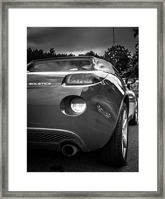 Pontiac Solstice Rear View Framed Print