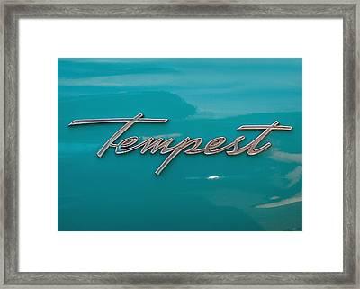 Pontiac Tempest Logo Framed Print