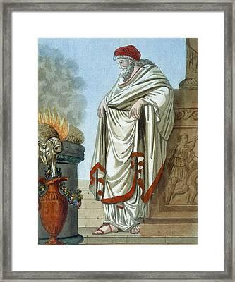 Pontifex Maximus, Illustration Framed Print by Jacques Grasset de Saint-Sauveur
