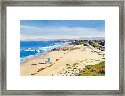 Ponto Beach Carlsbad California Framed Print