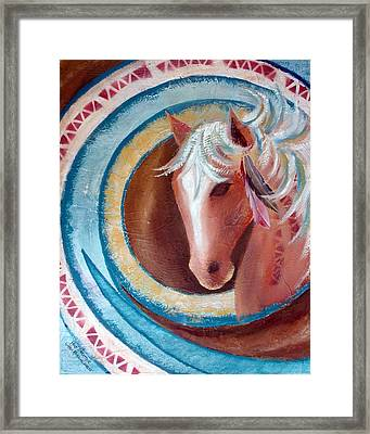 Pony Dreamer Framed Print by Chris Morningforest