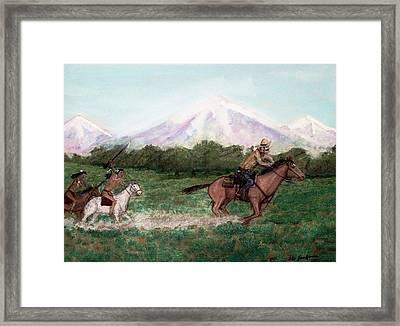 Pony Express Rider Framed Print