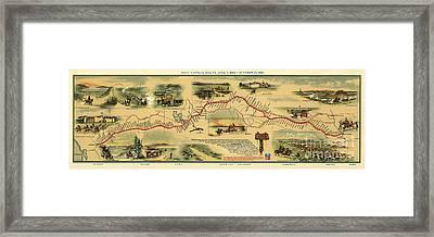 Pony Express Map William Henry Jackson Framed Print