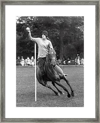 Pony Gymkhana Champion Framed Print