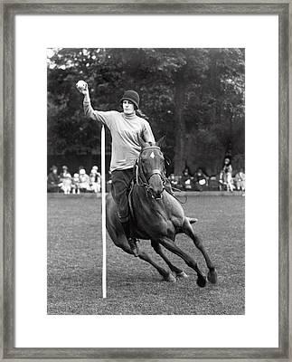 Pony Gymkhana Champion Framed Print by Underwood Archives