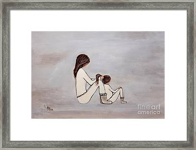 Pony Tail Day Framed Print by Leslie Allen