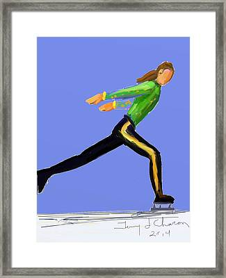 Pony Tail Framed Print by Terry  Chacon