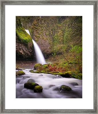 Framed Print featuring the photograph Ponytail Falls by Brian Bonham