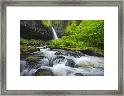Ponytail Falls Framed Print by Joseph Rossbach