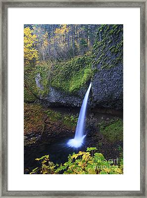 Ponytail Falls Framed Print by Mark Kiver