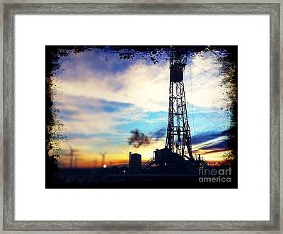 Poof Framed Print by Aaron Caine