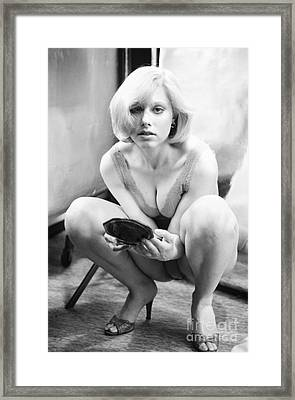 Framed Print featuring the photograph Poof by Steven Macanka