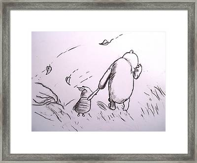 Pooh And Piglet Framed Print by Jessica Sanders