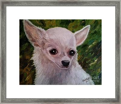 Pookie Framed Print by Julie Brugh Riffey