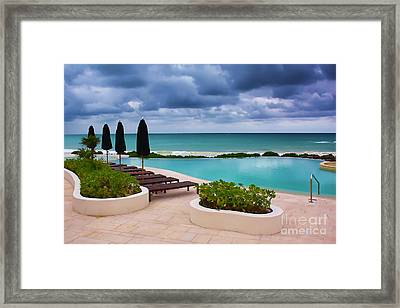 Pool At Rosewood Mayakoba Framed Print by Teresa Zieba