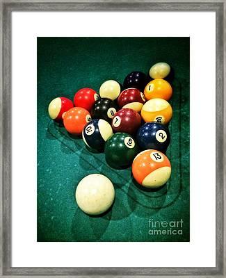 Pool Balls Framed Print