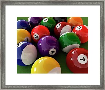 Pool Balls Framed Print by Leonello Calvetti