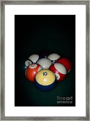 Pool Balls Framed Print by Paul Ward