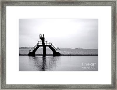 Pool By The Sea Framed Print by Olivier Le Queinec