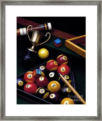 Pool Gear Framed Print by Simon Kayne