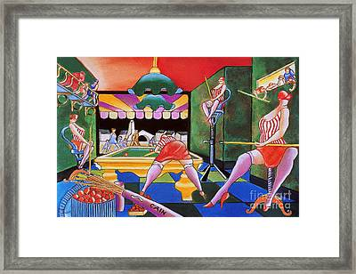 Pool Hall Ladies  Framed Print by William Cain