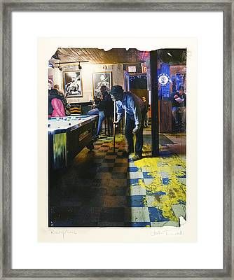 Pool Hall - The Rusty Nail Polaroid Transfer Framed Print