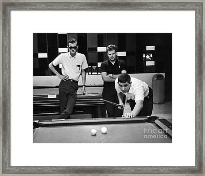 Pool Hall Framed Print by Van D. Bucher