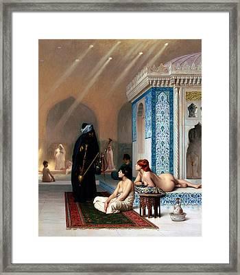 Pool In A Harem Framed Print by Munir Alawi