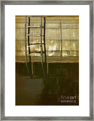 Pool Ladder At Sunset Framed Print by Jill Battaglia